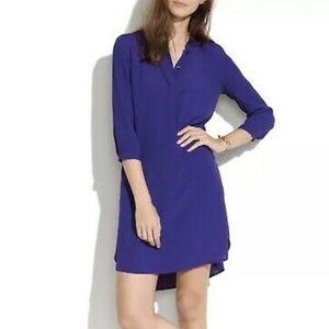 Broadway and broome purple silk shirtdress